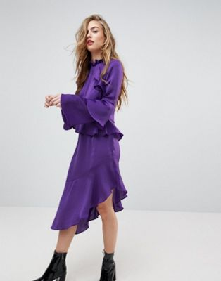 Miss Selfridge Asymetric Ruffle Dress