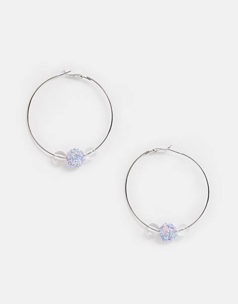 Miss Selfridge bead hoop earrings