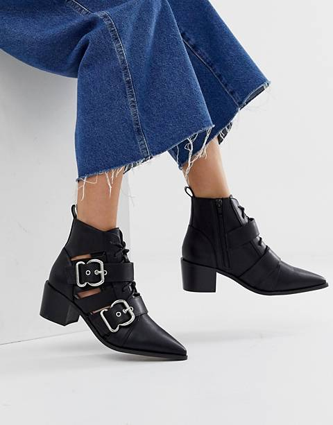 Miss Selfridge cut out buckle boot