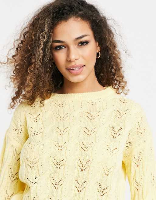 Miss Selfridge lounge jumper in yellow