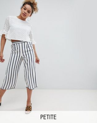 Miss Selfridge Petite Stripe Culotte Trousers