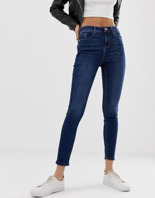 Image 1 of Miss Selfridge Sofia skinny jeans in mid wash