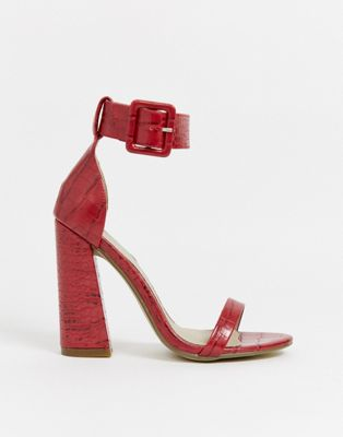 Missguided Buckle Detail Barely There Sandals by Missguided's