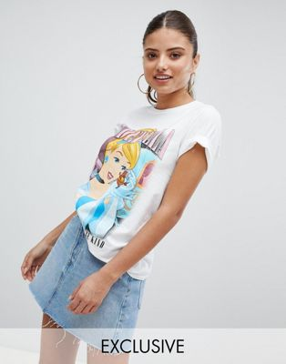 Missguided Cinderella Motif T-Shirt