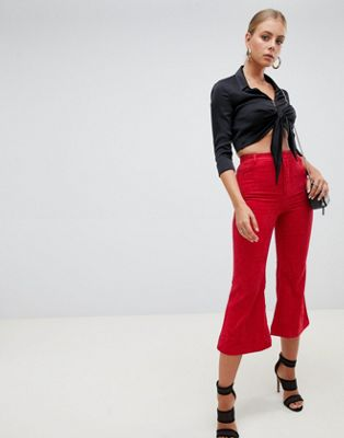 Missguided Cord Kick Flare Trousers