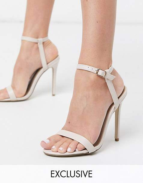 Missguided – Filigrane Riemensandalen in Beige
