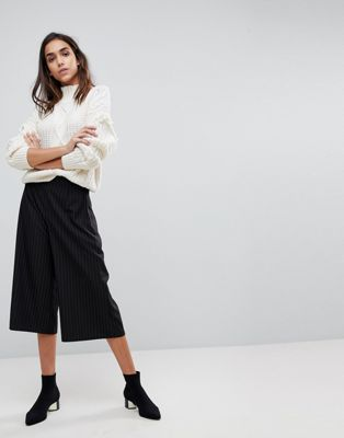 Missguided - Gonna pantalone sartoriale gessata