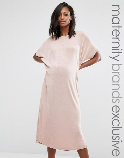 dc5d4d66a2778 Missguided Maternity Oversized Slinky Dress | ASOS
