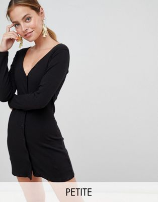 Missguided Petite Button Down Mini Dress