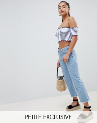 Image 1 of Missguided Petite exclusive petite cropped flare jean