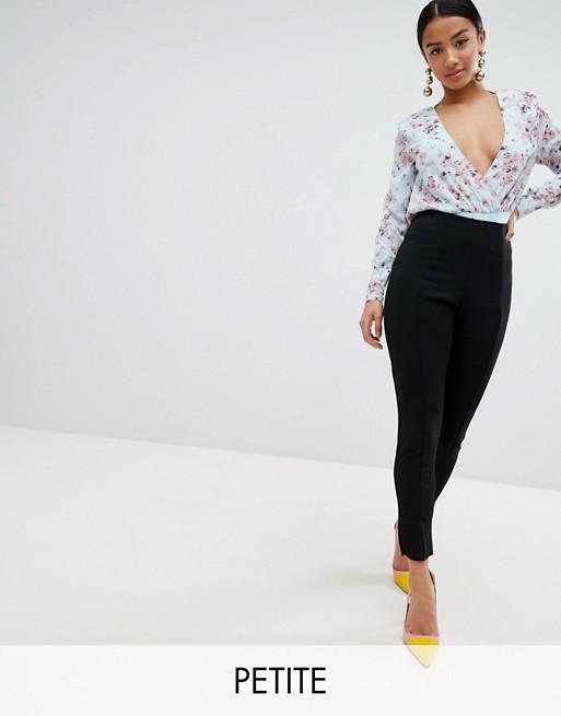 Afbeelding 1 van Missguided Petite - Skinny cigarette-broek in zwart
