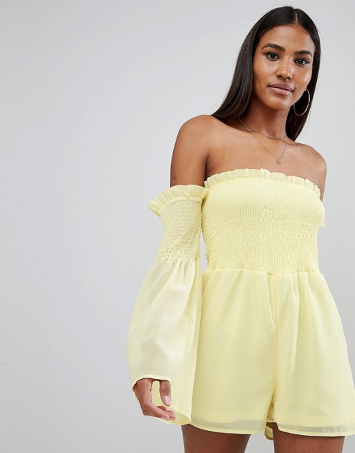 Missguided shirred romper