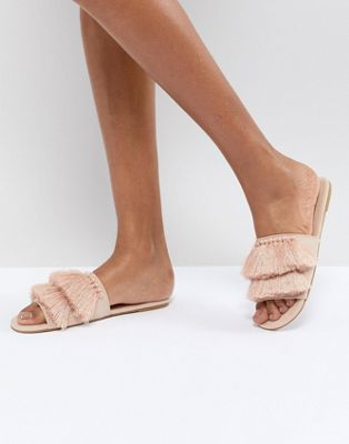 Missguided Tassel Slider Sandals