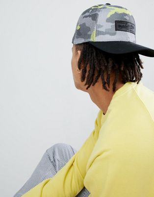 Image 1 of Mitchell & Ness 110 Baseball Cap in Fluro Camo