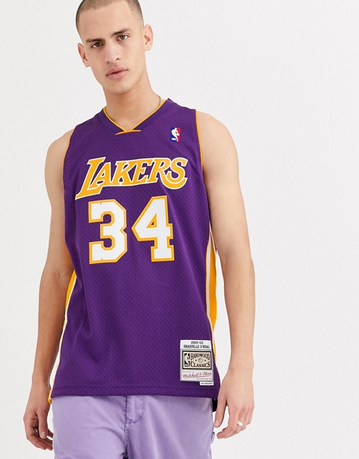 Mitchell & Ness - LA Lakers Shaquille O'Neal Swingman - Maillot - Violet