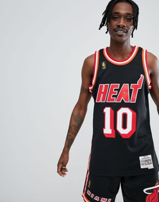 Mitchell & Ness NBA Miami Heat Swingman Singlet In Black