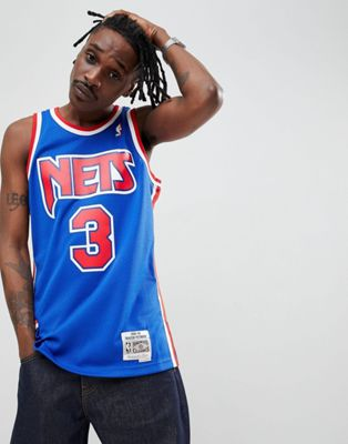 Mitchell & Ness NBA New Jersey Nets Swingman Singlet In Blue