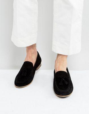 Mocasines negros de ante con borlas Denton de KG By Kurt Geiger