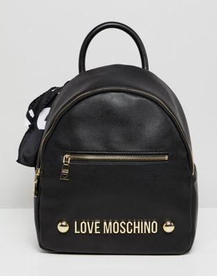 Mochila con logo de tachuelas de Love Moschino