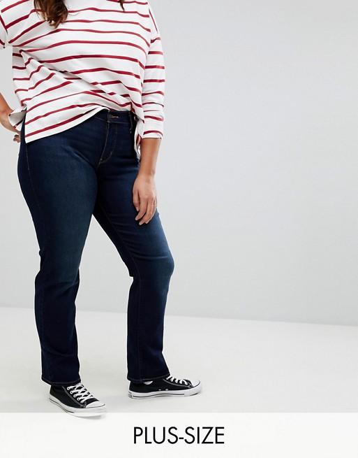 Моделирующие прямые джинсы Levi's Plus 314