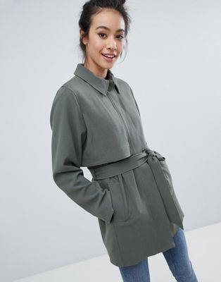 Monki 2 Part Button Up Coat