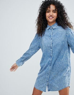 Monki Denim Shirt Dress