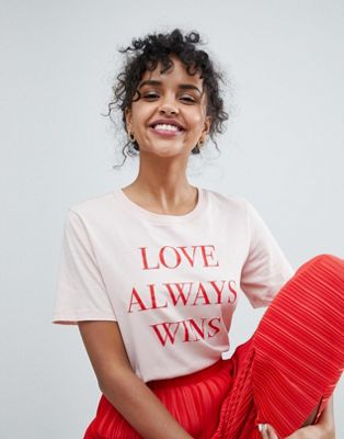 Monki Love Always Wins T-Shirt