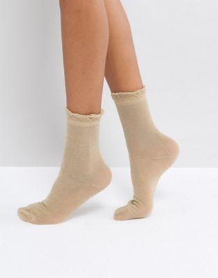 Monki – Metallic-Socken