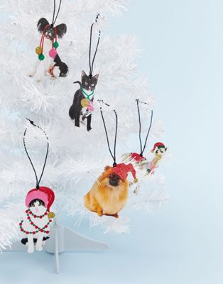 Monki Novelty Animal Christmas Decorations 10 Pack