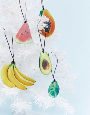 Monki Novelty Fruit Christmas Decorations 10 Pack