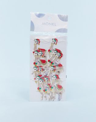 Monki Novelty Llama Christmas Garland