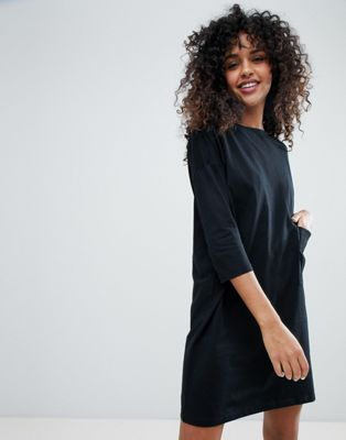 Monki Pocket Front T-Shirt Dress
