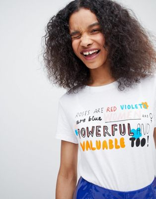 Monki slogan t-shirt