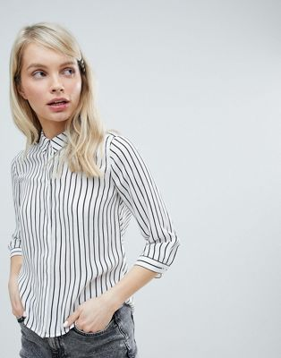 Monki Striped Blouse