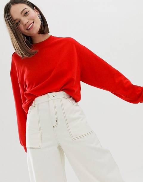 Monki sweatshirt in red