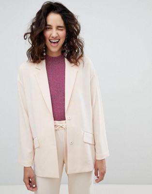 Monki Tailored Popper Detail Blazer