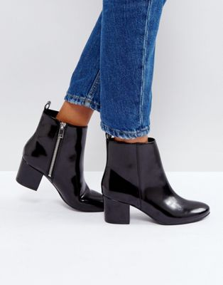 Image 1 of Monki Zip Detail Ankle Boots