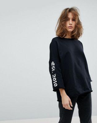 Moss Copenhagen – Sweatshirt mit ausgestellten Ärmeln