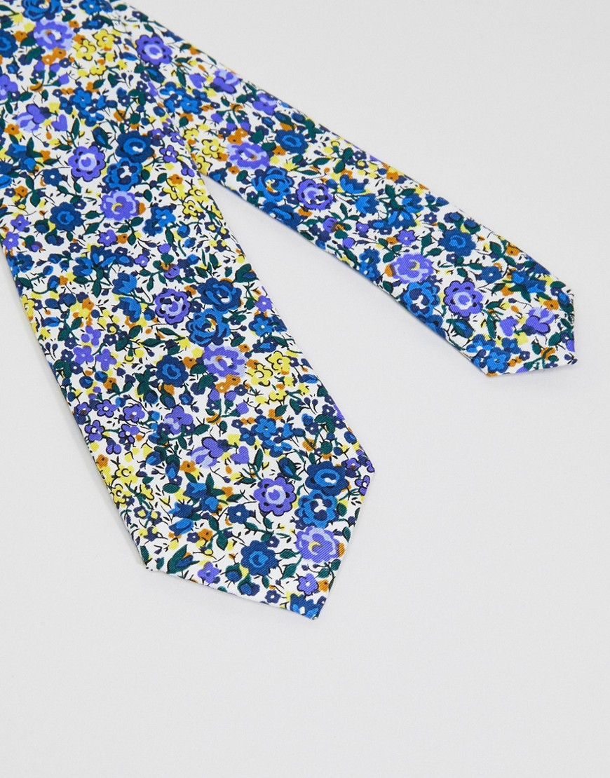 moss-london-silk-blend-tie-in-floral-design by moss-london