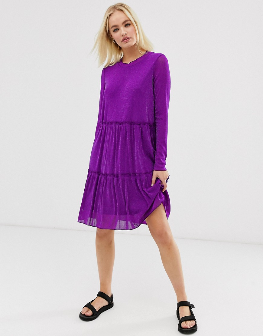 moves by minimum sheer dress-purple
