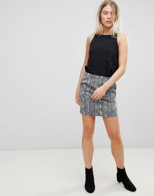 Image 1 of Moves By Minimum Snake Print Skirt