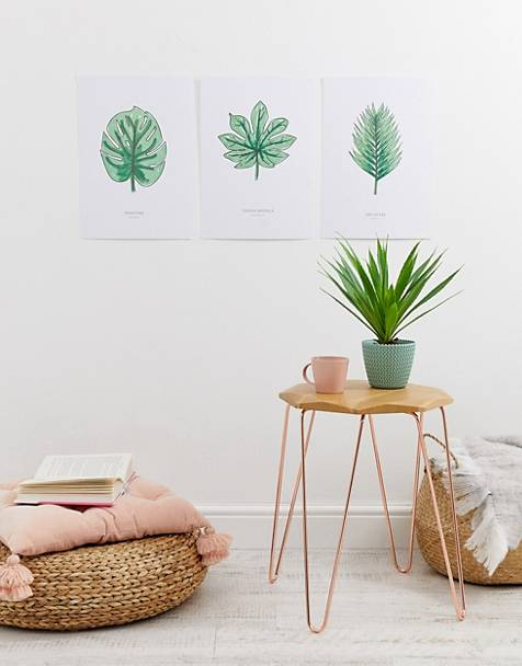 MOXON set of 3 leaf wall art