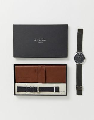 Mr Beaumont - Coffret cadeau avec montre en cuir