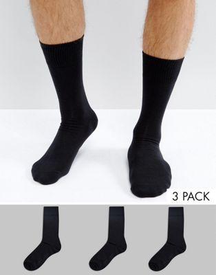 Изображение 1 из Набор из 3 пар черных носков Levi's эксклюзивно для ASOS