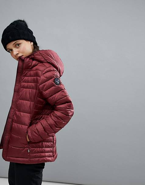 Napapijri Aerons Hooded Jacket In Burgundy