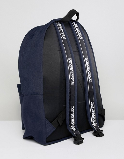 Napapijri Hala Logo Backpack With Taping In Navy TRIBE PACK