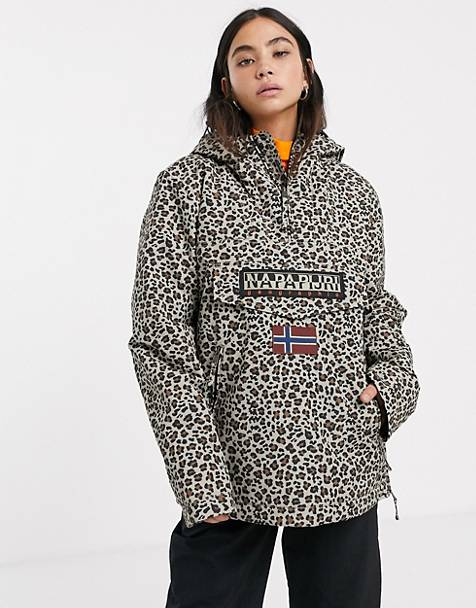 Napapijri - Rainforest - jakke i leopardprint