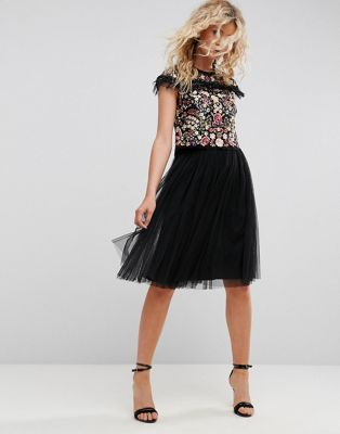Image 1 of Needle & Thread Tulle Midi Skirt