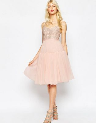 Image 1 of Needle & Thread Voluminous Tulle Embellished Dress