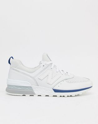 New Balance 574 Sport Trainers In White MS574BLW